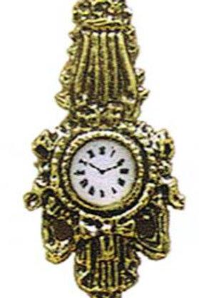 Wall Clock-Gold Tone