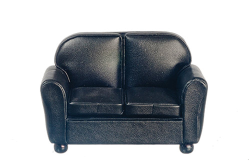 Leather Loveseat-Black