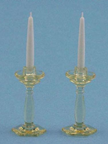 Candlesticks-Amber
