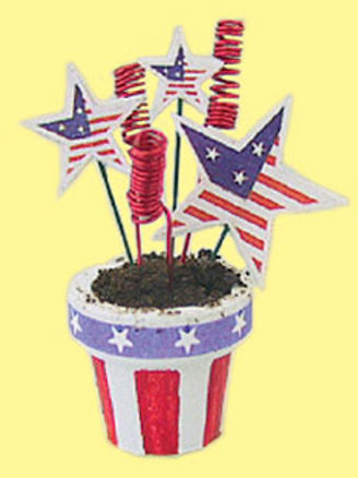 Stars & Stripes Flower Pot