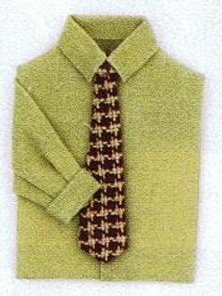 Man's Shirt with Tie-Tan
