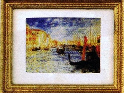 Painting-Gondola in Venice