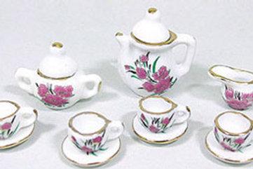 Tea Set-Pink and White