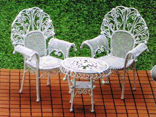 Wire Table & Chair Set