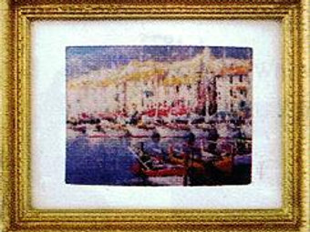 Painting-Fleet of Sailboats