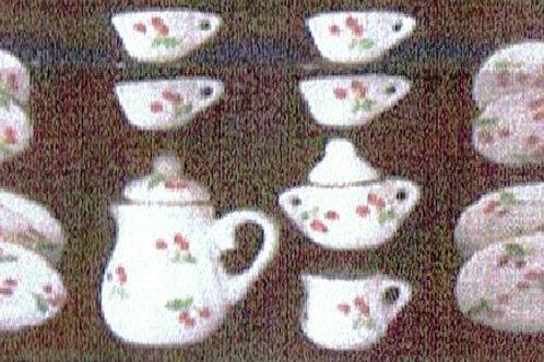 Tea Set with Cherries