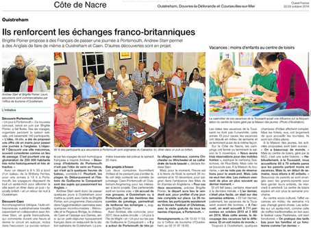Appearance in Ouest-France Newspaper