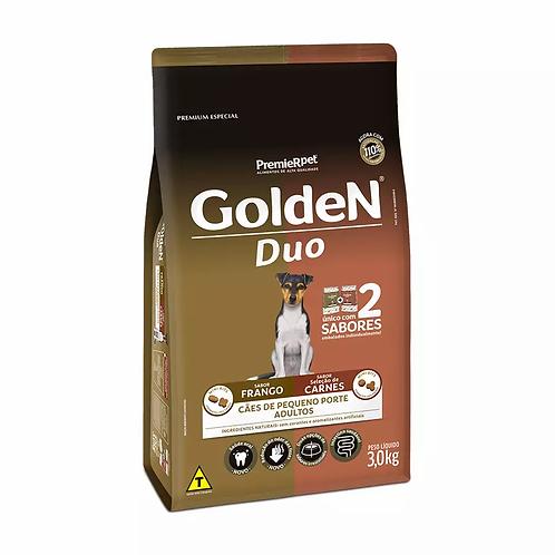 Ração Golden Duo Mini Bits p Cães Adultos de Pequeno Porte Sabor Frango