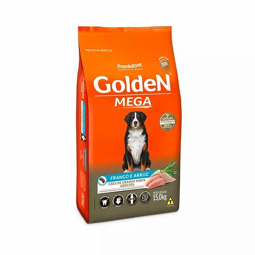 Ração Golden Mega para Cães Adultos de Raças Grandes Sabor Frango e Arroz -15 kg