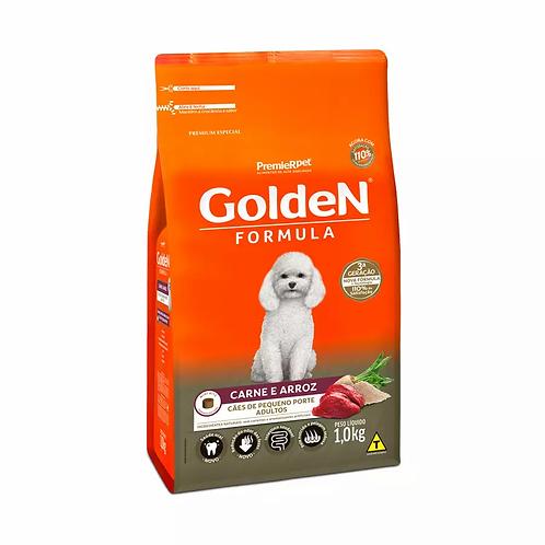 Ração Golden Fórmula Mini Bits P Cães Adultos Pequeno Porte Sabor Carne e Arroz