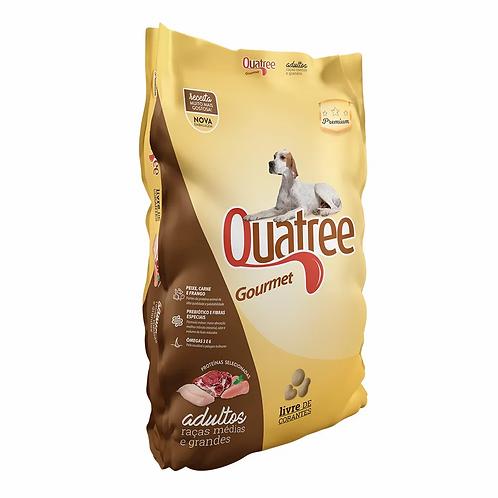 Ração para Cães Quatree Gourmet Adultos Raças Médias e Gde Sem Corante - 15kg