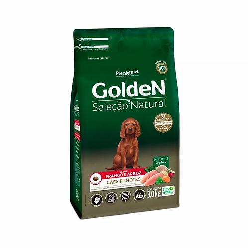 Ração Golden Seleção Natural para Cães Filhotes Sabor Frango - 3 kg