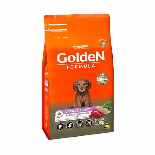 Ração Golden Fórmula Mini Bits Cães Filhotes Raças Pq Sab. Carne e Arroz - 1 kg