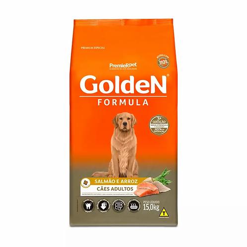 Ração Golden Fórmula para Cães Adultos Sabor Salmão e Arroz - 15 kg