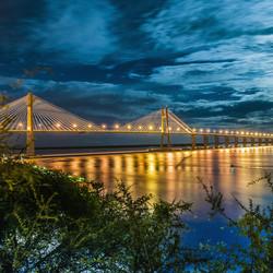 Vista del puente Rosario Victoria