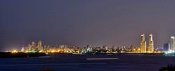 Vista nocturna de Rosario