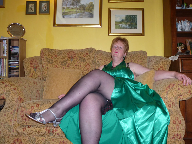 Next  Gallery will feature my lovely silky green evening dress.