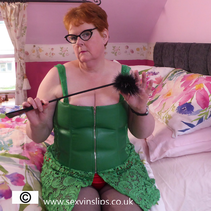 Mistress Sue is Back in Green Leather