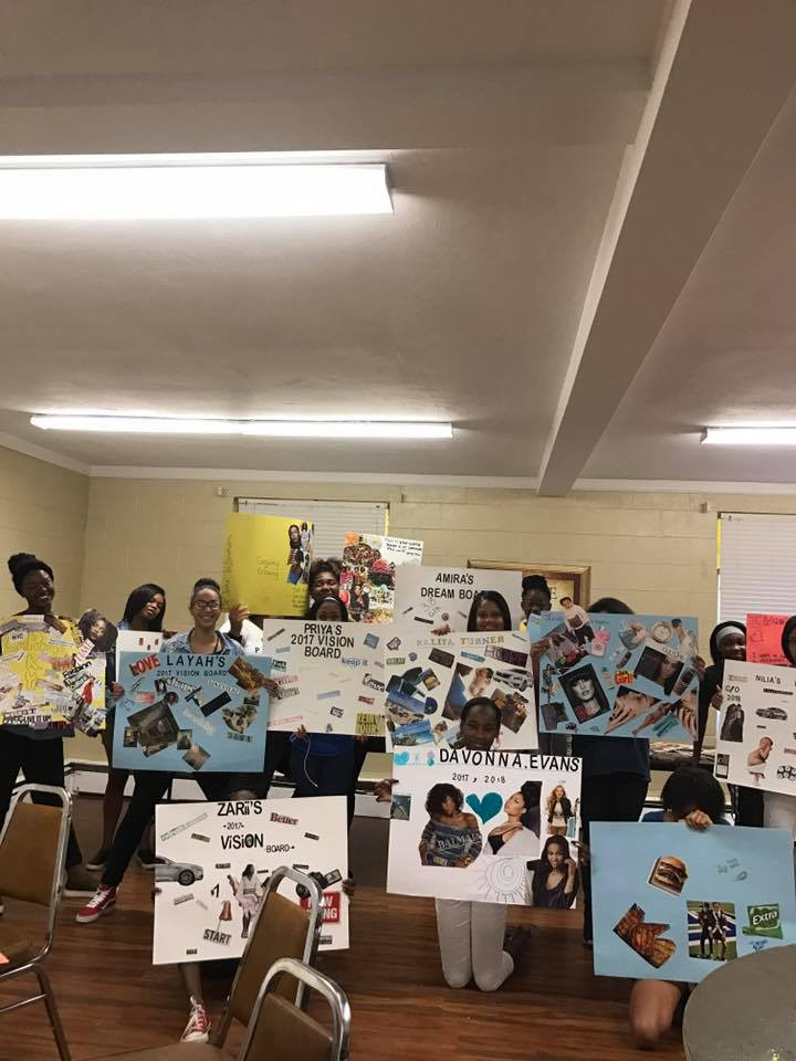 At the beginning of every year the girls create vision boards with the direction of Sr. Director, Ms. Shirelle.