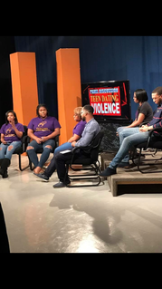 YLAG lands tv segment discussing teen dating and violence.