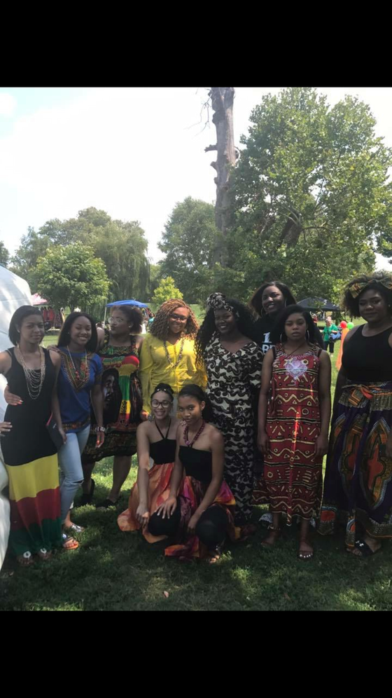 Modeling for the Black Cultural Festival Fashion Show