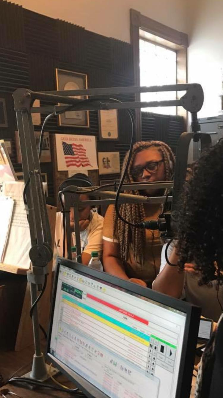 Radio Station Interview.