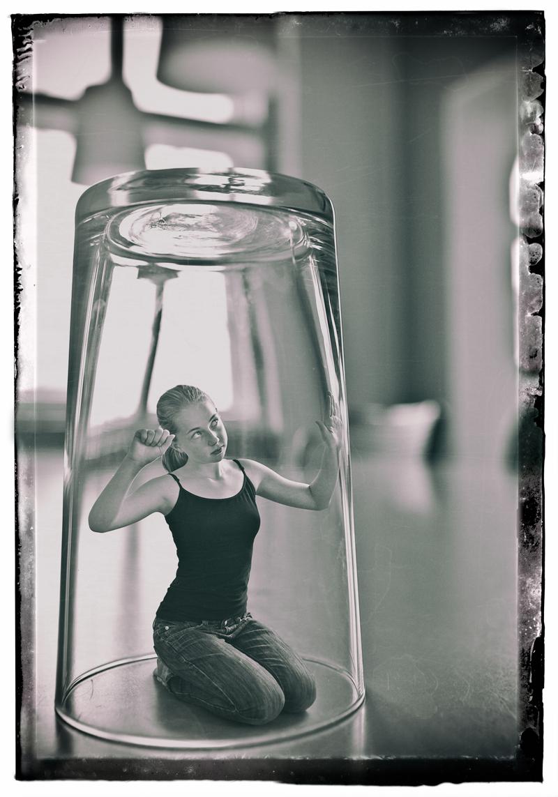 M. im Glas