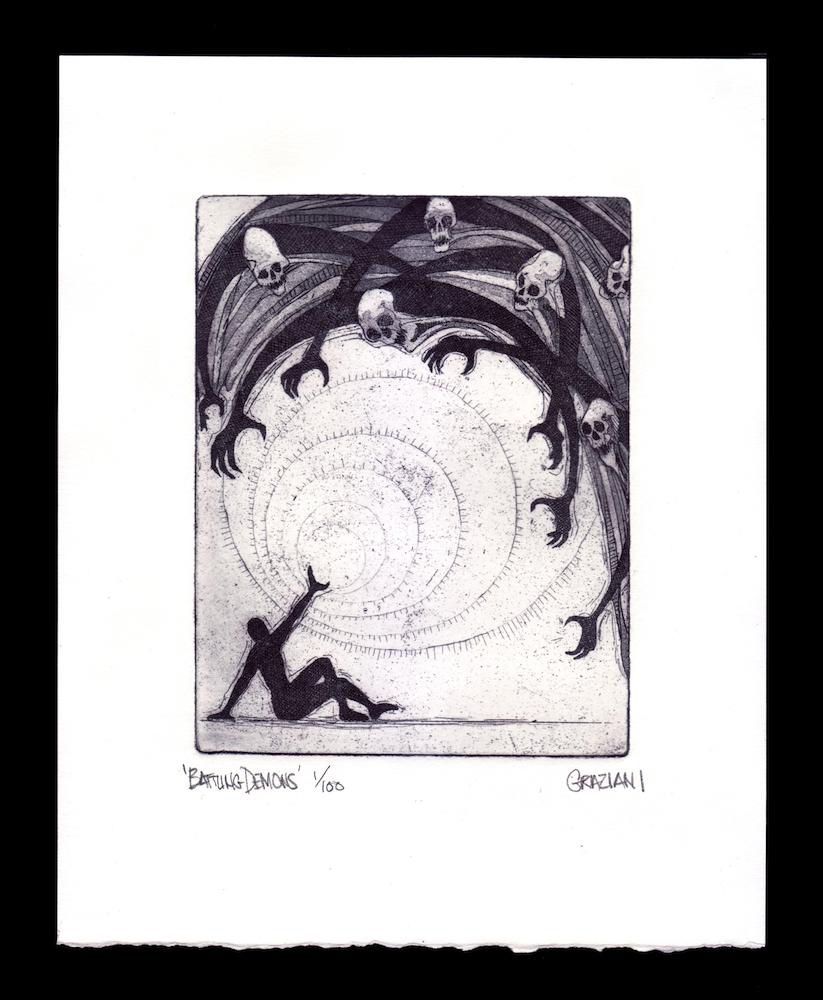BATTLING DEMONS_5x6 Plate