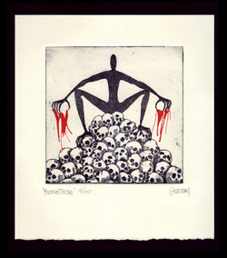 BLEACHED THRONE_6x6 Plate
