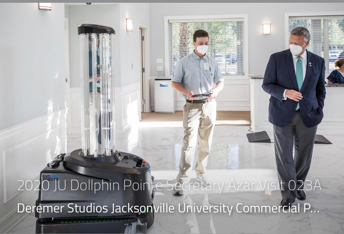 During a visit to a Florida hospital using UVD Robots
