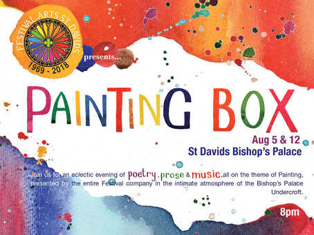 Painting Box, a celebration of poetry, prose and music.