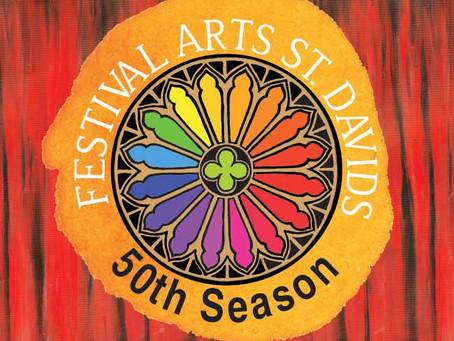 Festival Arts St Davids celebrate their 50th summer season!