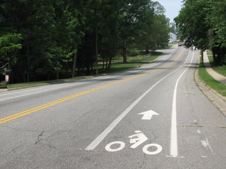 One of Lexington's many bike lanes