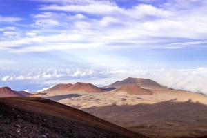 Top of the world at Mauna Kea crater and observatory.