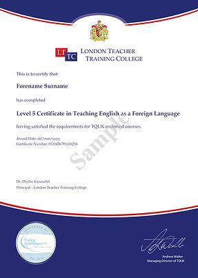 Level 5 Certificate in Teaching English