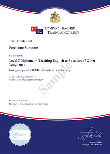 Level 7 Diploma in Teaching English to S