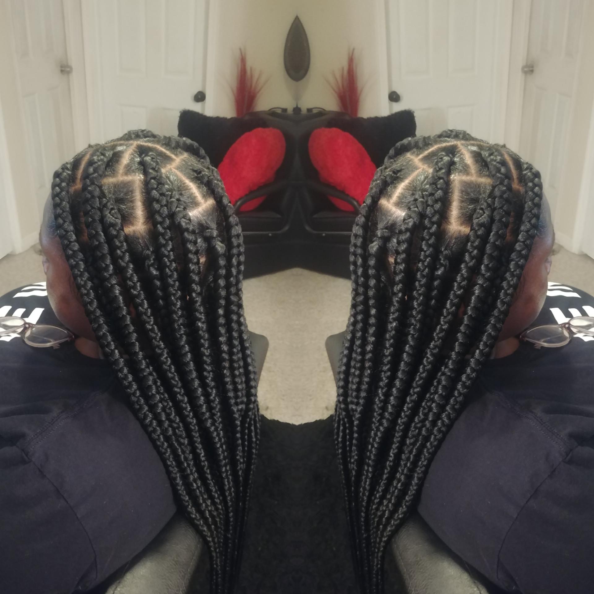 Jumbo Waist Length Knotless Box Braids