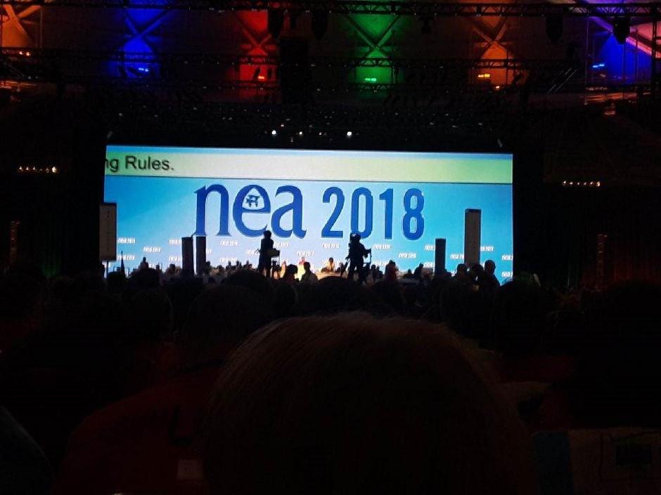 NWEA represents at National Education Association Representative Assembly
