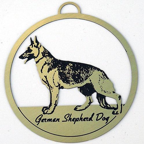 German Shepherd Dog Brass Ornament