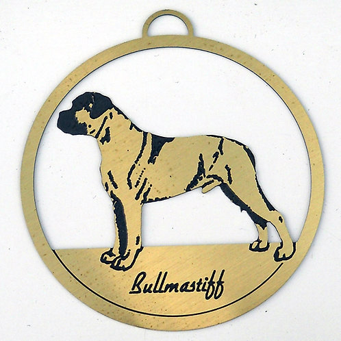 Bull Mastiff Brass Ornament