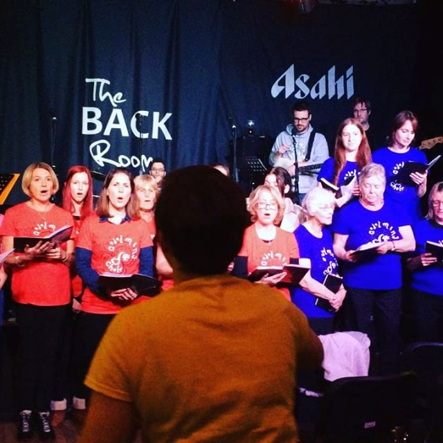 Having a little sing on Sunday #crymeariver #singing #raisingmoney #christmas #choir #choirconcert