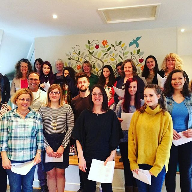 What a wonderful group I had on Sunday! #singingworkshop #singinginharmony #singingingodalming #sing