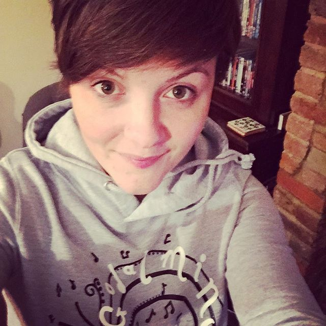 Look at my new GJC HOODIE!!! Sooo excited! Thanks Dan for printing them! #hoodies #hoodie #choir #il