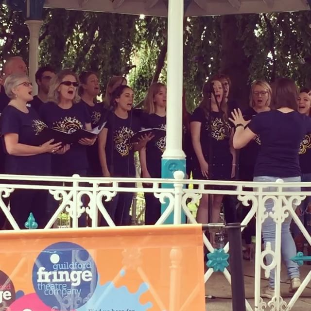 GuJC taking Guildford castle by storm with Attention! With Guildford Fringe Festival! #acapella #sin