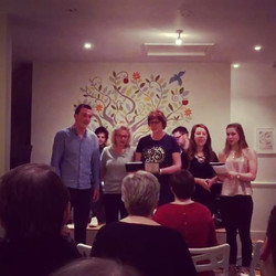 A lovely clip from Friday night for you all! #canthelpfallinginlove #choirmates #choirperformance #c