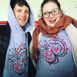 These two loving their new hoodies!! #hoodies #choirlove #happyfamilies _flossie_hunt93 _flossie_hun