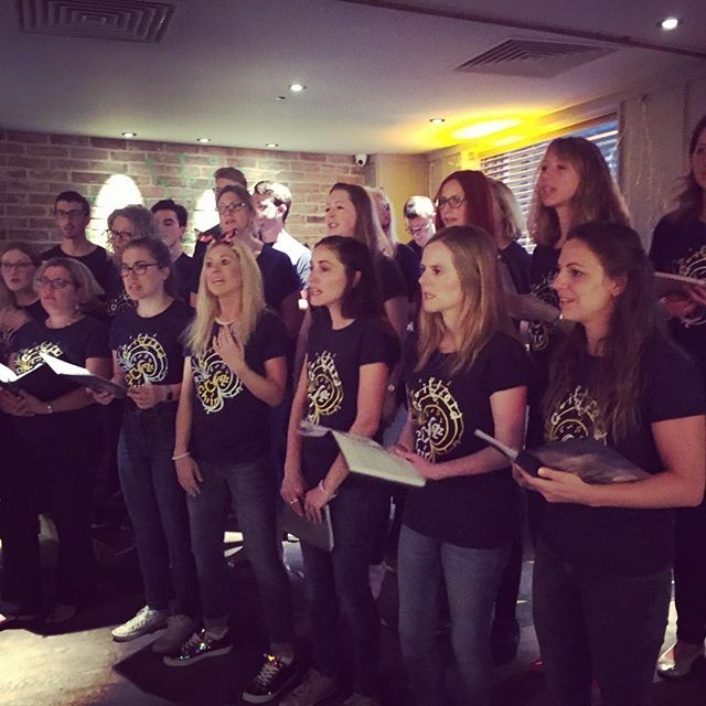Guildford Jazz Choir on form _komoguildford last Wednesday