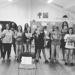 A snippet from yesterday's workshop. Singing in Harmony