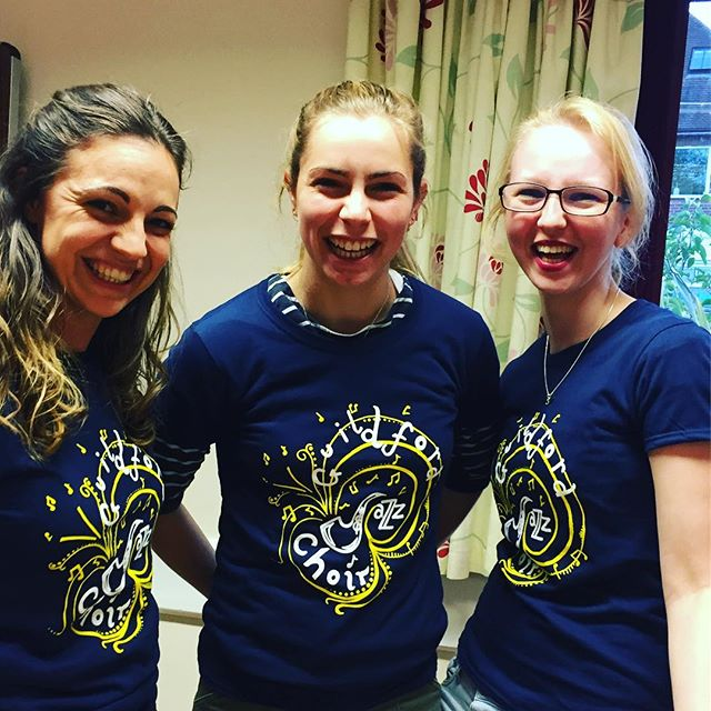 The soprano girls loving their new GuJC Tshirts! #theylooksohappy #tshirts #choirperformance #choirm