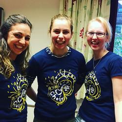 The soprano girls loving their new GuJC Tshirts! #theylooksohappy #tshirts #choirperformance #choirm